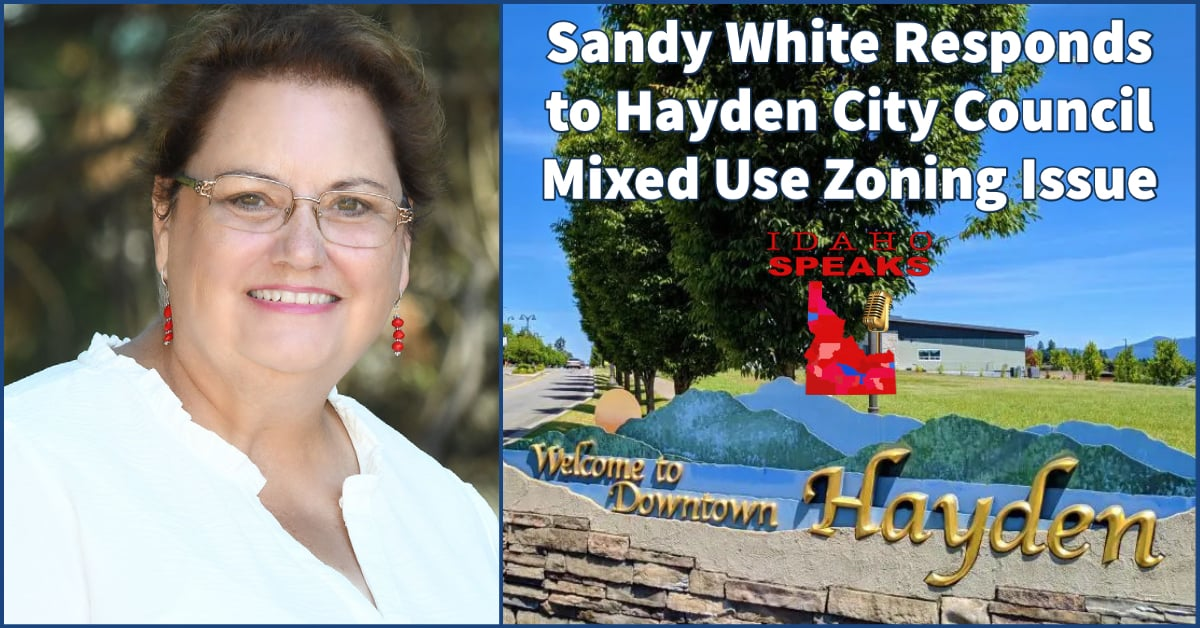 Sandy White Running for Hayden City Council Mixed Use Issue
